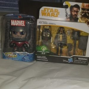 Two set of star warships and a marvel might muggs